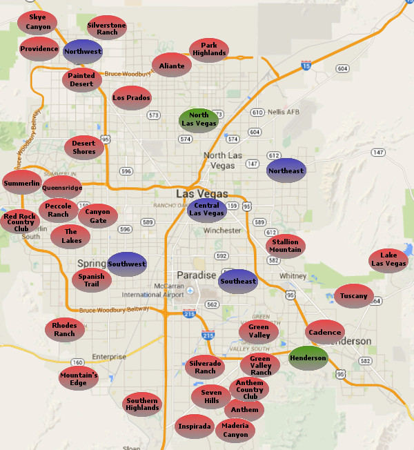 Map Guide - Las Vegas Real Estate