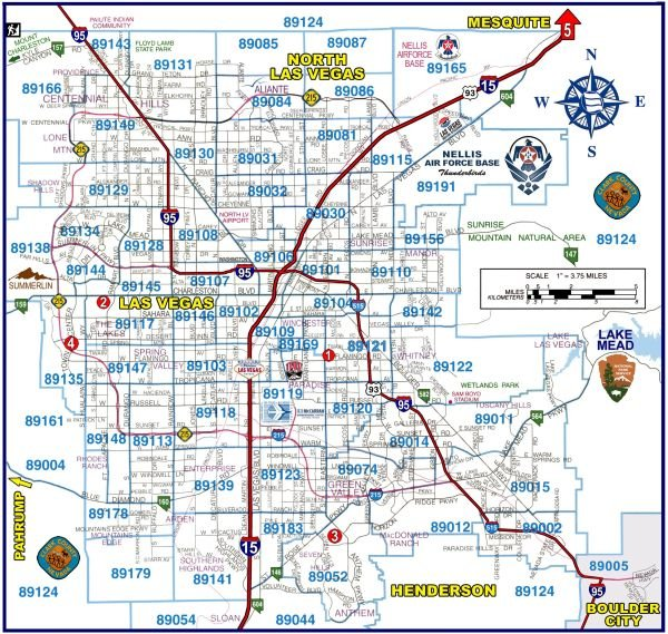 Las Vegas Zip Code Map
