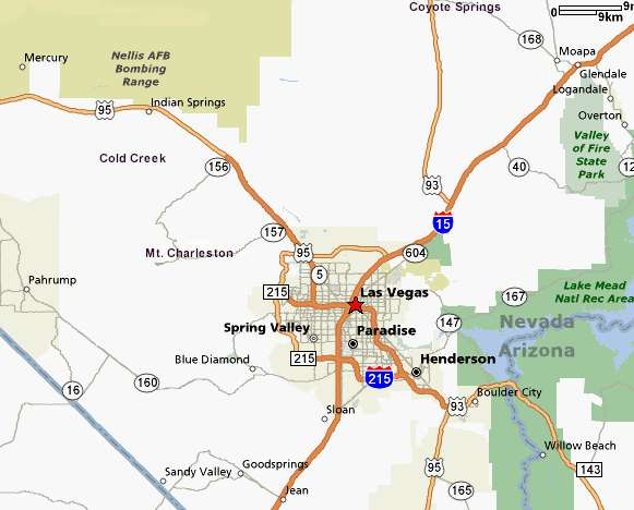 Las Vegas Surrounding Areas Map - Las Vegas Real Estate